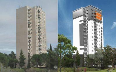 Tour 2 : 16 étages, 49 mètres de hauteur, 66 logements
